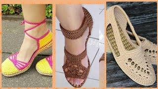 Crochet Espadrilles With Flip Flop Sole Crochet Shoes Designs And Patren