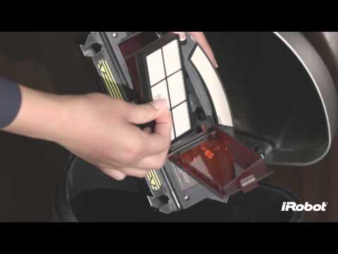 iRobot Roomba 800 Series - How To Empty Bin and Clean Filter