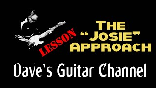 """LESSON - The """"Josie""""  Approach by Steely Dan"""