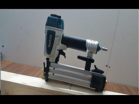Makita  AF505N  Brad Nailer  - How To Use A Nail Gun/ Woodworking- tool review