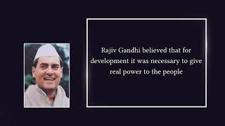 Rajiv Gandhi: Panchayati Raj