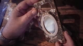 Чехол для Samsung S7 edge с зеркалом и камнями. от компании Интернет-магазин-Модной дешевой одежды. - видео