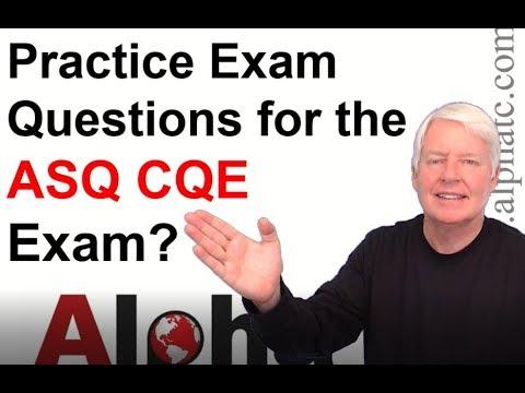 ASQ CQE Practice Exam - YouTube