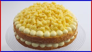 MIMOSA CAKE RECIPE Italian Pastry Cream Cake [womens Day] By ItalianCakes USA
