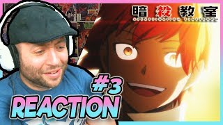 "ASSASSINATION CLASSROOM Episode 3 REACTION ""Karma Time"""