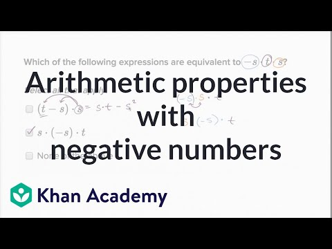 Equivalent expressions with negative numbers (multiplication