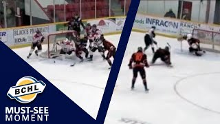Must See Moment: Josh Dias and Cayden Hamming trade saves at both ends of the rink
