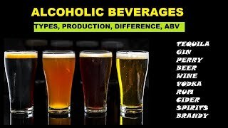 Alcoholic Beverages: Types/classification, Difference And ABV