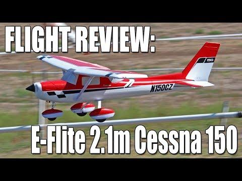 Assembly & Flight Review - E-Flite 2.1m Carbon-Z Cessna 150 Aerobat