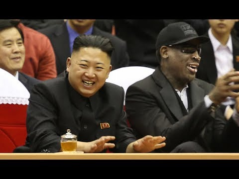 ", title : 'Dennis Rodman Back in North Korea, Gives Trump's ""Art of the Deal"" as Gift'"