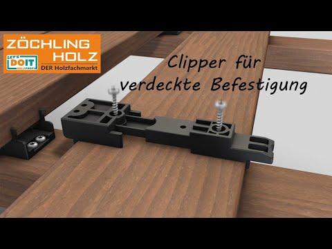 Clipper Befestigungsclip für verdeckte Befestigung von Terrassendielen