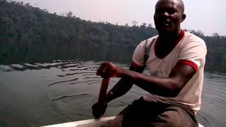 preview picture of video 'Crossing Lake Barombi - Dec 2012'