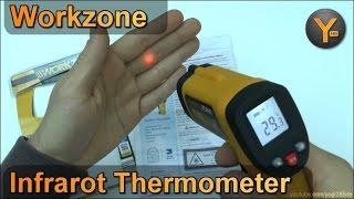 Workzone Infrarot Thermometer mit Laserpointer / ALDI Süd
