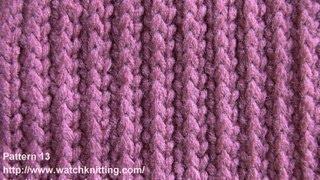 (stripe Stitch) - Free Knitting Tutorial - Watch Knitting - Pattern 13