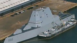 On board the USS Zumwalt, the Navy's pricey new battleship