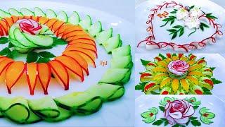 5 Brilliant Radish Flower Garnishes | DIY Collections Of Vegetable Designs