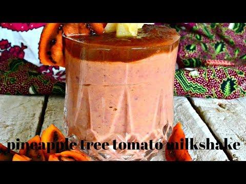 HOW TO MAKE A MILKSHAKE   PINEAPPLE TREE TOMATO MILKSHAKE