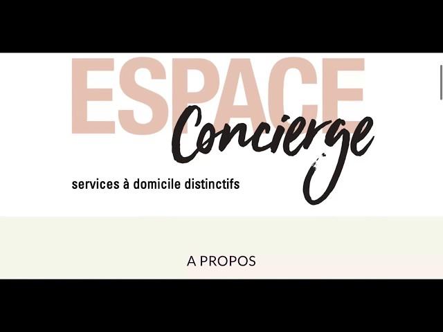 Création Site Espace Concierge