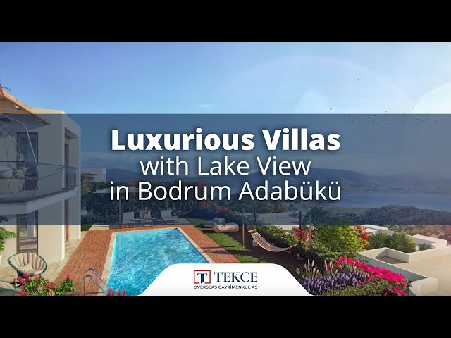 Lake View Villas Perfect for Investment in Bodrum Mugla