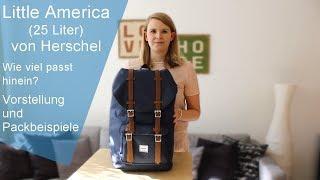 Little America von Herschel - 25 Liter - Vorstellung, Test und Packbeispiele