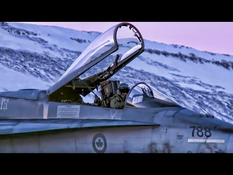 Canadian Fighter Jets • NORAD Exercise In (Icy) Greenland