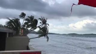 Тайфун Пабук в Тайланде. Море после шторма. Тайфун обошёл стороной Самуи, Ганган и Пхукет.