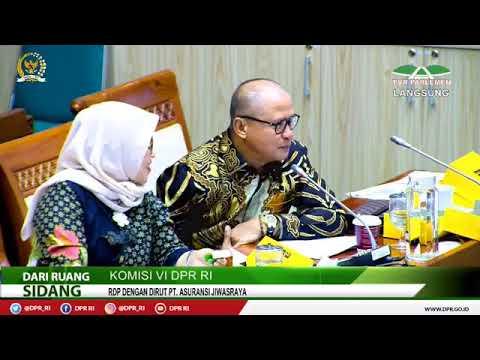 Live RDP Komisi VI DPR RI dengan Asuransi Jiwasraya