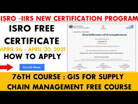 ISRO GIS for Supply Chain Management Free Course | ISRO Free ...