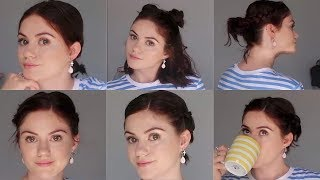 4 QUICK HAIRSTYLES For Short Hair: BUNS