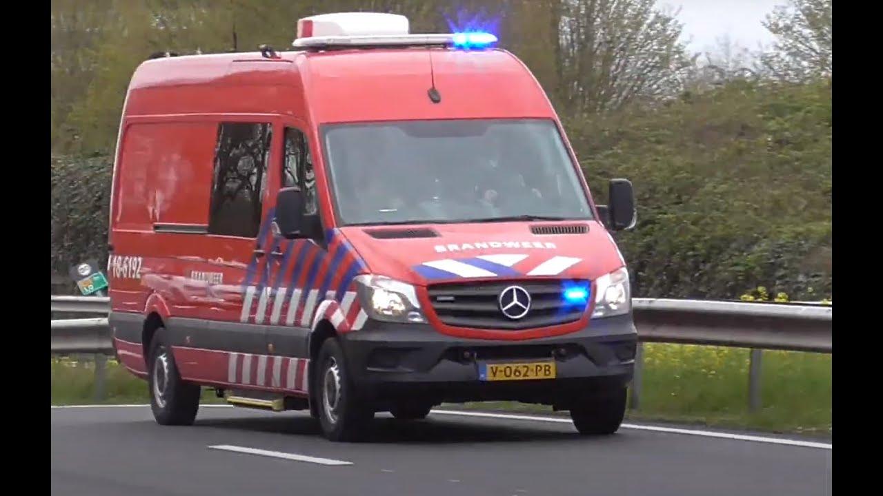 Brandweer en ambulance met spoed naar een Grote brand in Nieuw-Lekkerland!
