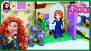 Lego Disney Princess Meridas Brave Highland Games Castle Set Build Review Play - Kids Toys