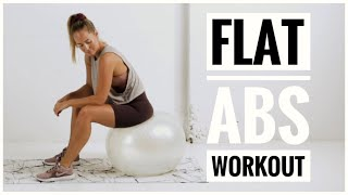 Stability Ball AB WORKOUT // Strong Core + Flat Stomach Exercises