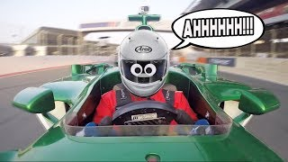 We nearly WRECKED an F1 CAR our first time driving!