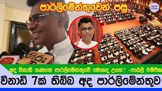 අද තිබ්බ විනාඩි 7ක පාර්ලිමේන්තුවේ මොකද උනේ ? - Patali talking about parliament