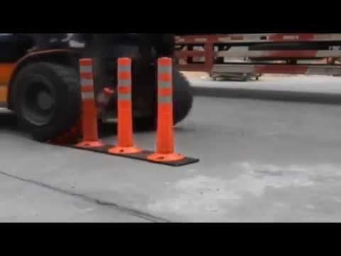 Ограждение парковки столбиками www.incap.com.ua