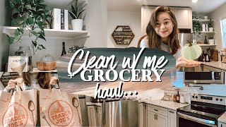 VLOG | Clean With Me + Trader Joe's Massive Grocery Haul by Chelsea Crockett