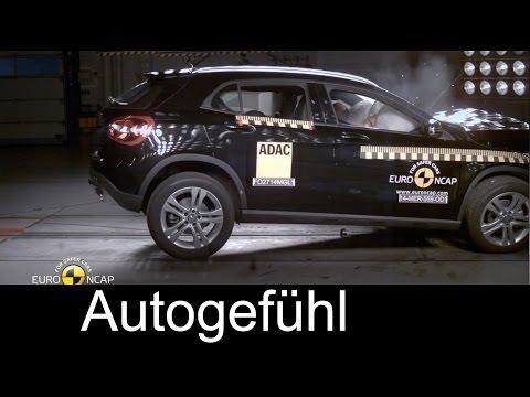 Mercedes Benz GLA crash test Euro NCAP and Collision Prevention Assist Plus