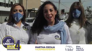 Mensaje de agradecimiento Martha Cecilia Villafuerte Cuenca.