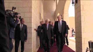 Trump estrecha lazos con Abás en su visita a Palestina