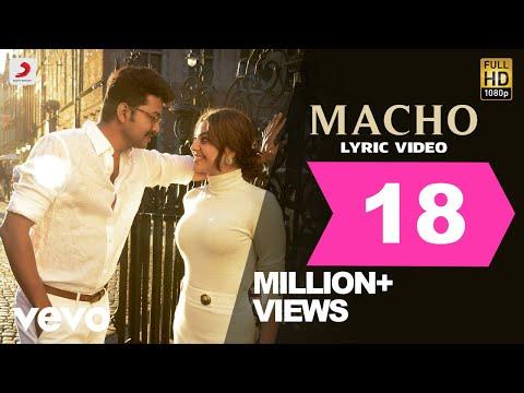 Download Mersal - Macho Tamil Lyric Video   Vijay, Kajal Aggarwal   A R Rahman   Atlee HD Video