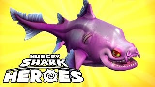 mod apk hungry shark heroes