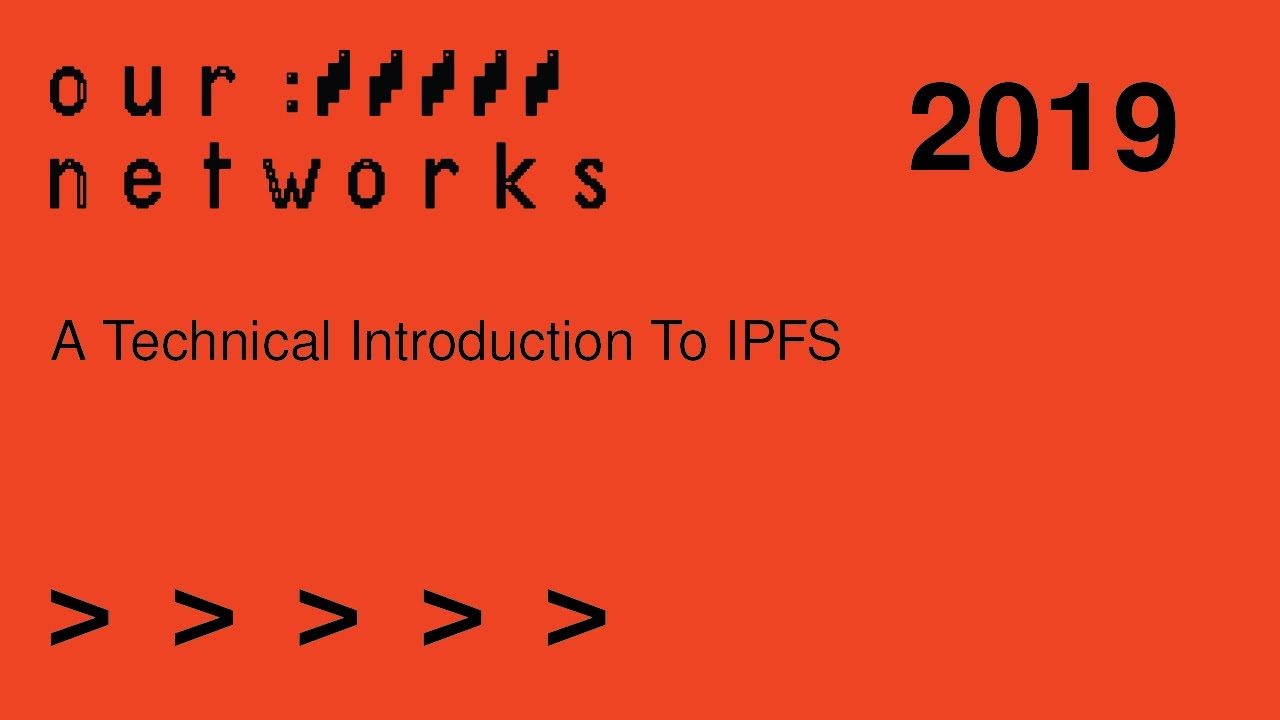 Video thumbnail for A technical introduction to IPFS