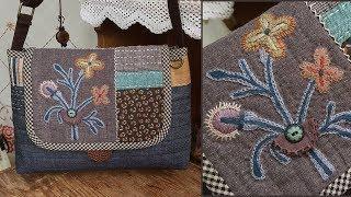 프랑스자수 퀼트가방 만들기 │ Embroidery Patchwork Quilted Bag │ How To  Make DIY Crafts Tutorial