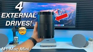 Connect 4 External Drives to your M1 Mac Mini with THIS! 🤯
