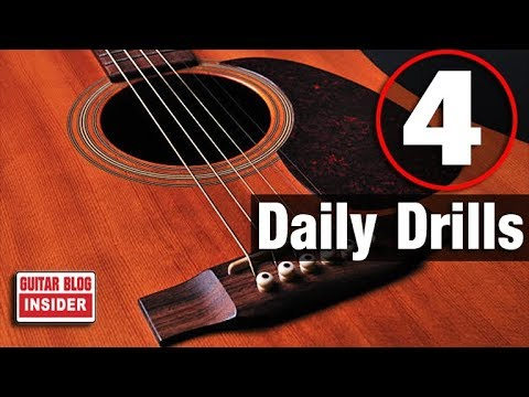 4 Guitar Drills You Should Do Each Day - YouTube