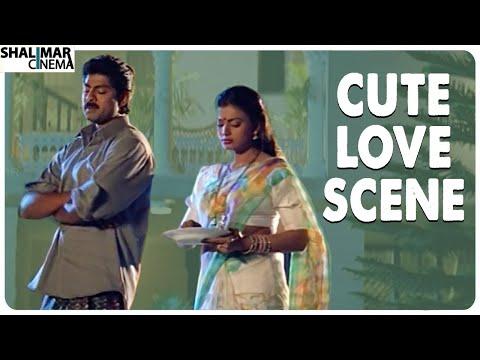 Jagapati Babu & Roja Love Scene || Shubhalagnam Movie || Shalimar Cinema