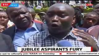 Baringo Jubilee aspirants furious over irregularities in the nomination list