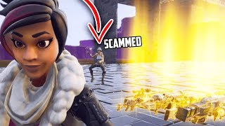 Suspicious Scammer LOSES IT in his OWN HOMEBASE (Scammer Gets Scammed) - Fortnite Save The World