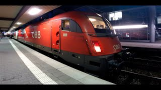 preview picture of video 'German City-Night-Line Trains at Munich Main Station'