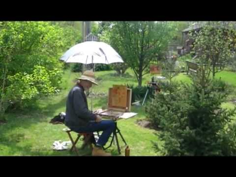 Painting at Bishop Hill, Illinois [VIDEO]